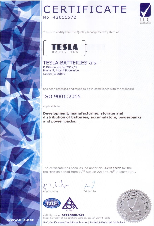 О TESLA BATTERIES - 001