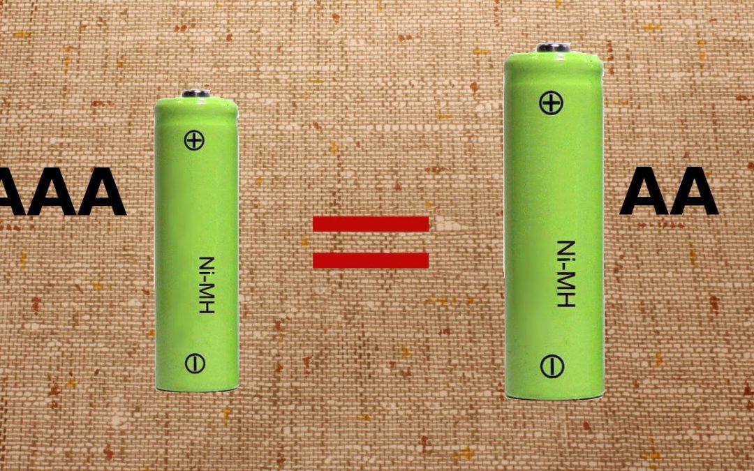 Різниця між батареями AA і AAA