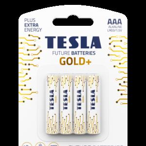 TESLA GOLD AAA 4pack open transparent