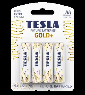TESLA GOLD AA 4pack open transparent