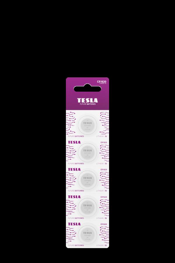 Tesla CR1620 blister 5pc front transparent 1