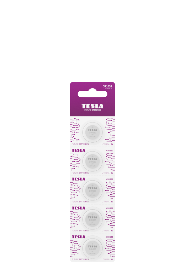 Tesla CR1632 blister 5pc front transparent 1
