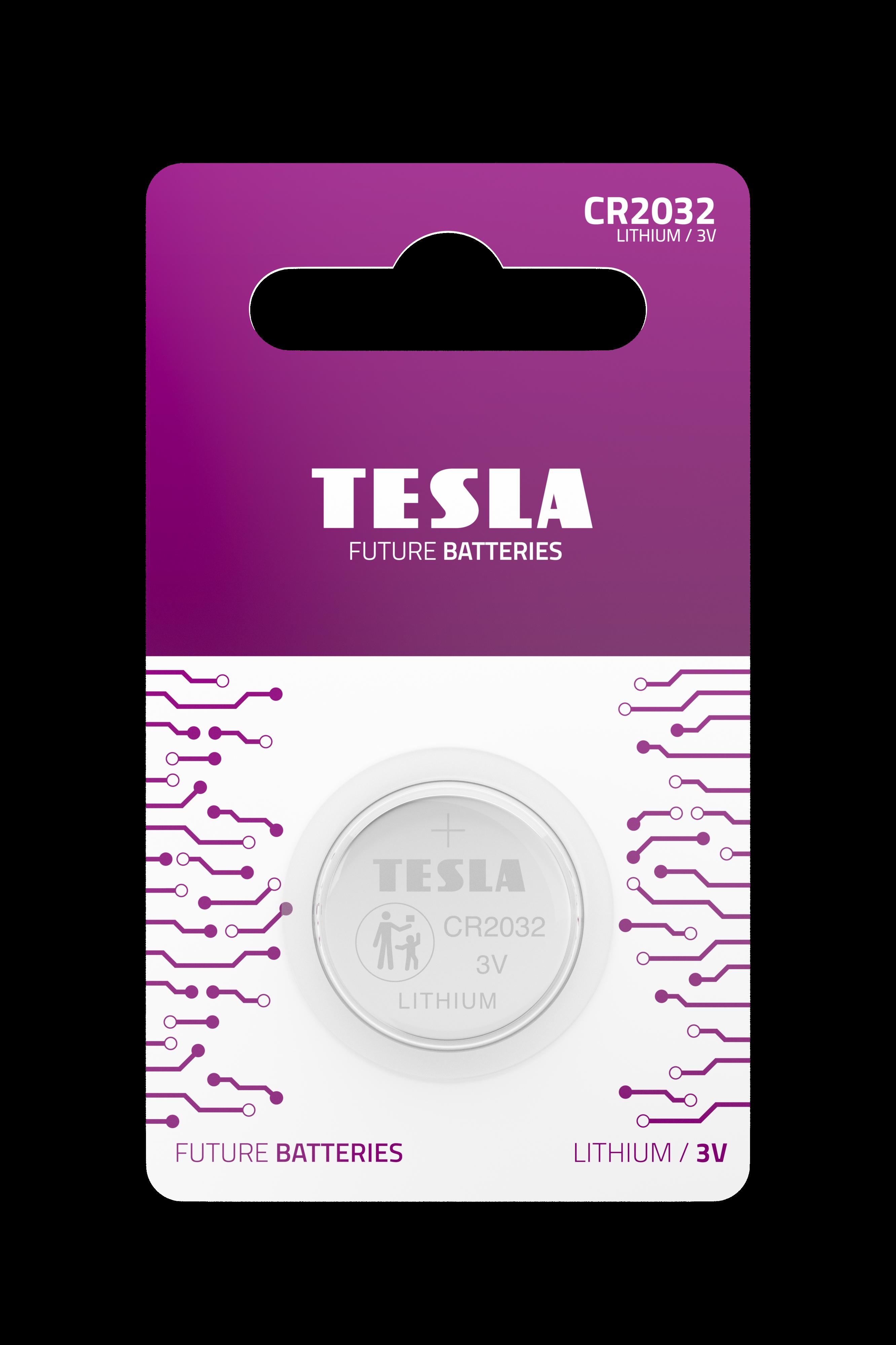 Tesla CR2032 blister 1pc front transparent 1