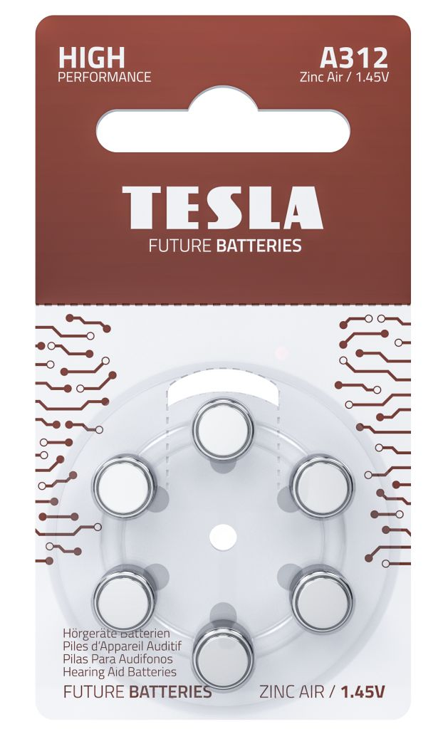 Tesla Sluchadlove Baterie zepredu A312