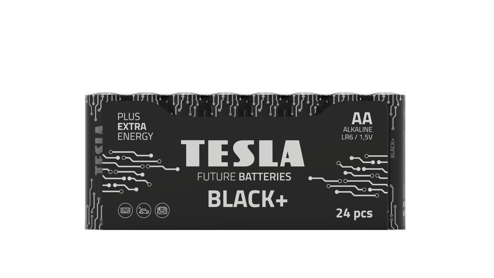 Tesla serie Black shrink AA 24 pruhledne 1