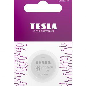 Tesla CR2430 blister 1pc front transparent